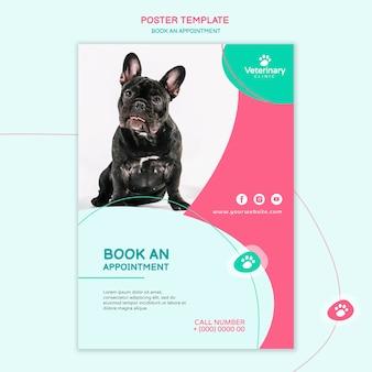 Modelo de pôster para consulta com veterinário