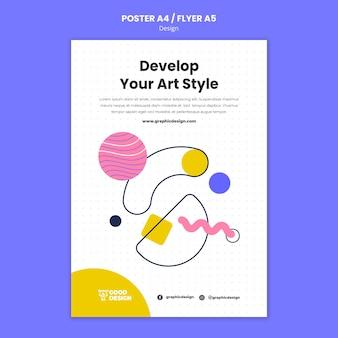 Modelo de pôster para design gráfico