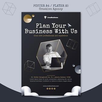 Modelo de pôster para empresa parceira de negócios