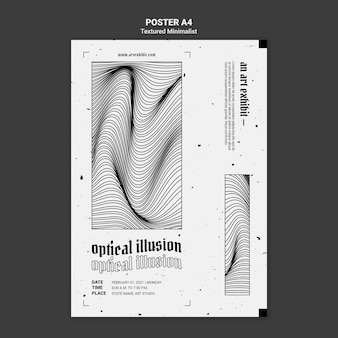 Modelo de pôster para exibição de arte de ilusão de ótica