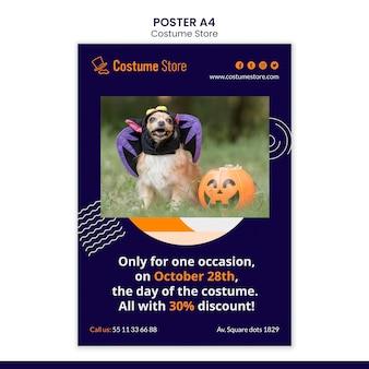 Modelo de pôster para fantasias de halloween Psd Premium