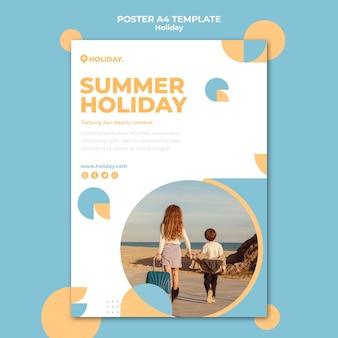 Modelo de pôster para férias de verão