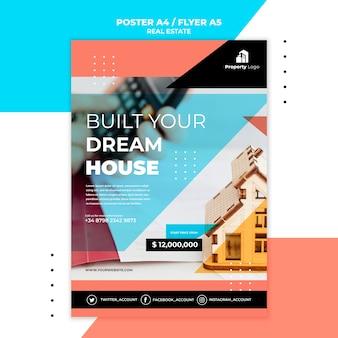 Modelo de pôster para imobiliária