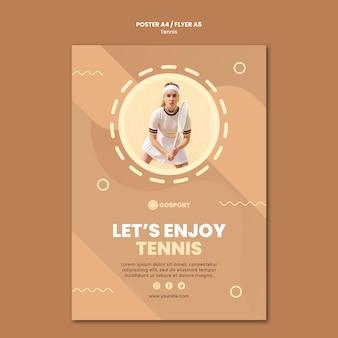 Modelo de pôster para jogar tênis