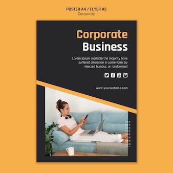 Modelo de pôster para negócios corporativos
