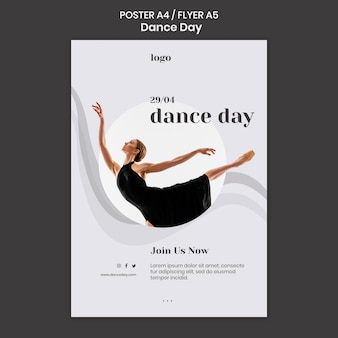 Modelo de pôster para o dia da dança