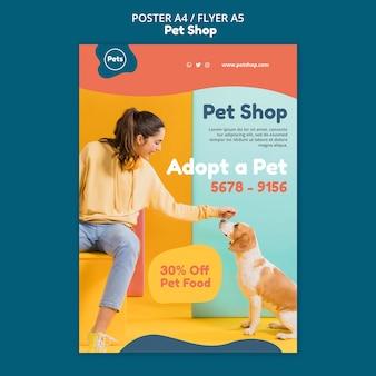 Modelo de pôster para pet shop