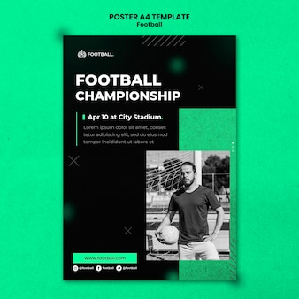 Modelo de pôster vertical de futebol