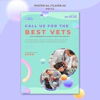 Modelo de pôster veterinário