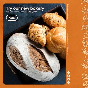 Modelo de produtos de padaria para promoção