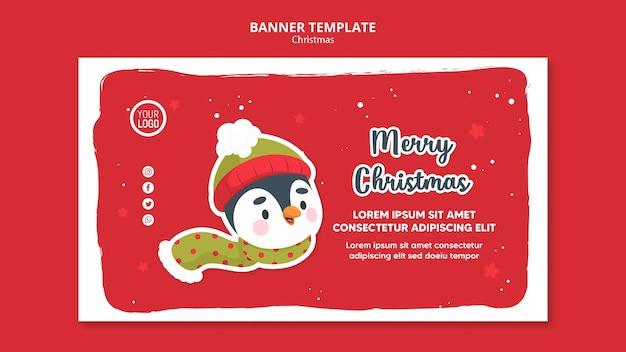 Modelo de promo de feliz natal para folheto quadrado