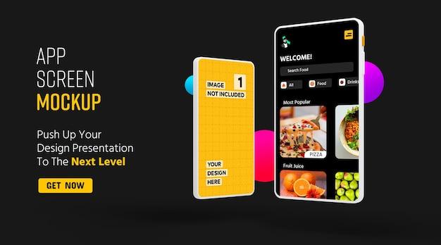 Modelo de promoção de aplicativo de tela de smartphone
