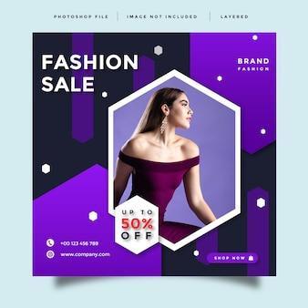 Modelo de promoção de mídia social de moda