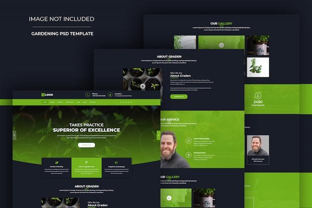 Modelo de psd de design de site