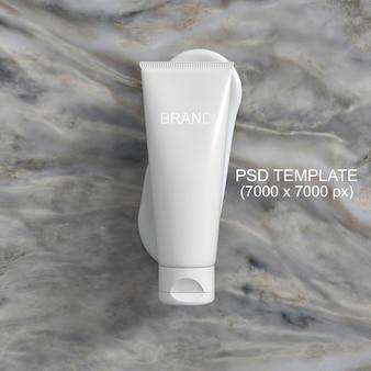 Modelo de psd de maquete de creme de embalagem de cosméticos