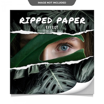 Modelo de publicação - mídia social de efeito de papel