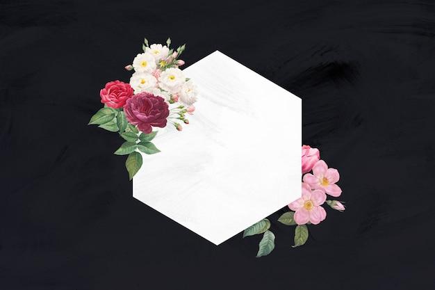 Modelo de quadro de buquê de flores coloridas