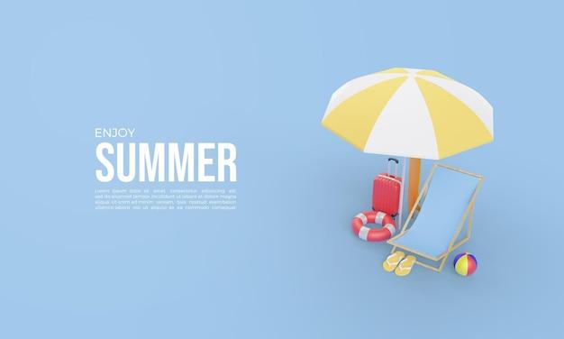 Modelo de renderização 3d para horário de verão