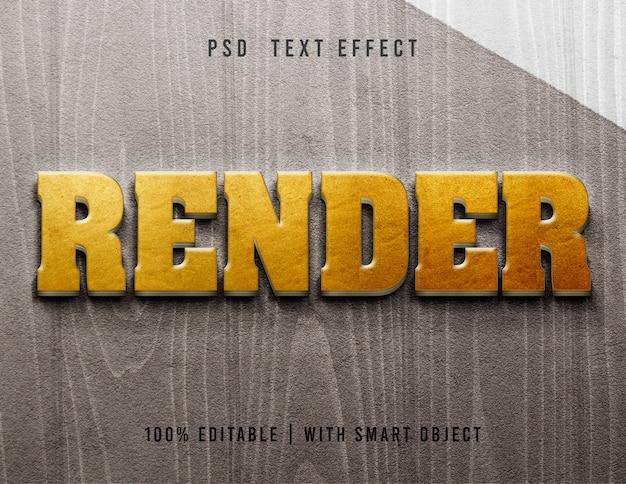Modelo de renderização de efeito de texto 3d