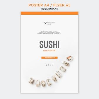 Modelo de restaurante de sushi de cartaz