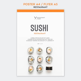 Modelo de restaurante de sushi