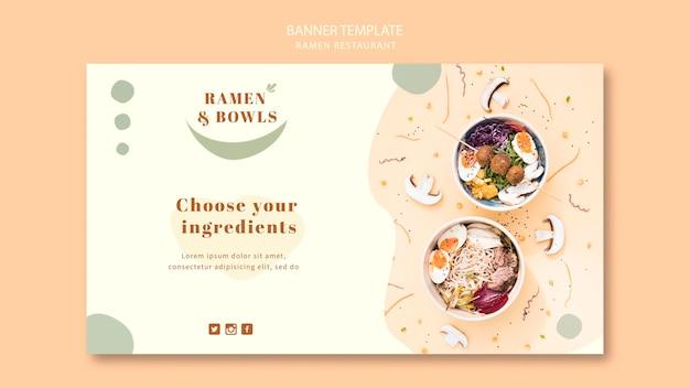 Modelo de restaurante ramen banner