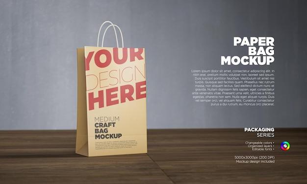 Modelo de saco de papel kraft marrom