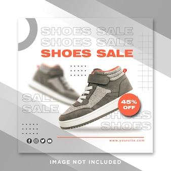 Modelo de sapato esportivo de postagem no instagram para mídia social