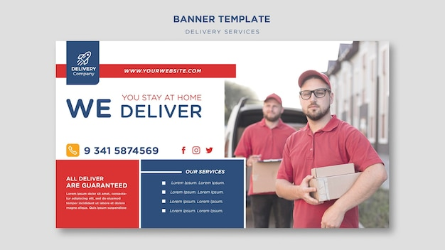 Modelo de serviços de entrega de banner