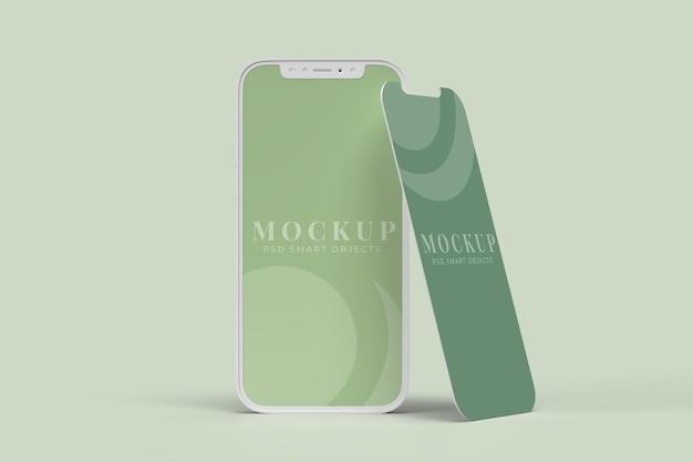 Modelo de simulação de tela de interface de dispositivo e aplicativo digital para smartphone para conceitos de negócios de branding de apresentação