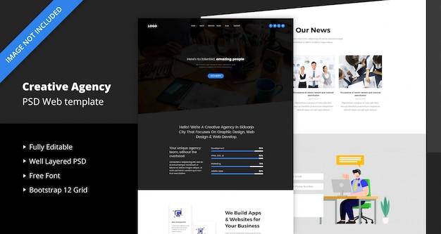 Modelo de site da agência criativa