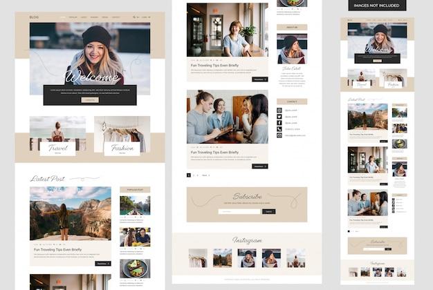 Modelo de site de blog pessoal