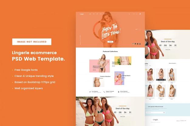 Modelo de site de comércio eletrônico de lingerie