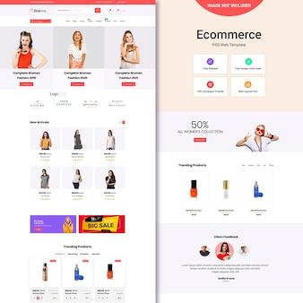 Modelo de site de comércio eletrônico