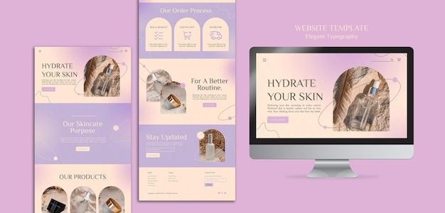 Modelo de site de cuidados com a pele