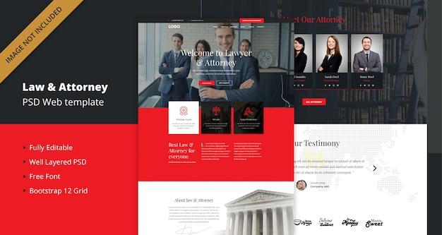 Modelo de site de direito, advogado e advogado