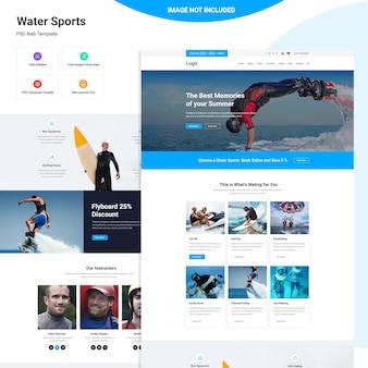 Modelo de site de esportes aquáticos