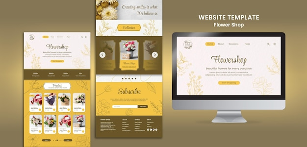 Modelo de site de floricultura