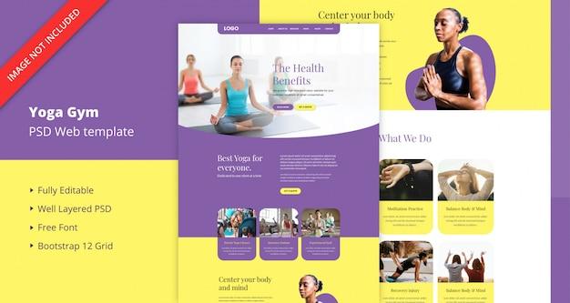 Modelo de site de ginásio de ioga