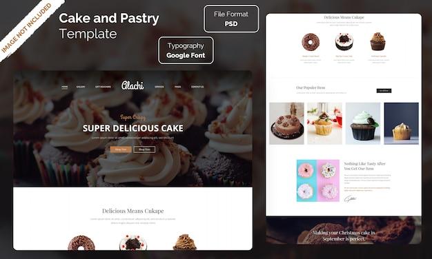Modelo de site de loja de bolos e pastelaria