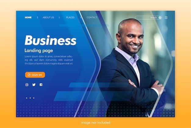 Modelo de site de página de destino de negócios