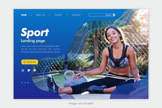 Modelo de site de página inicial de esporte