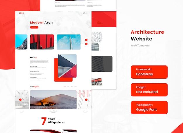 Modelo de site de serviço de arquitetura