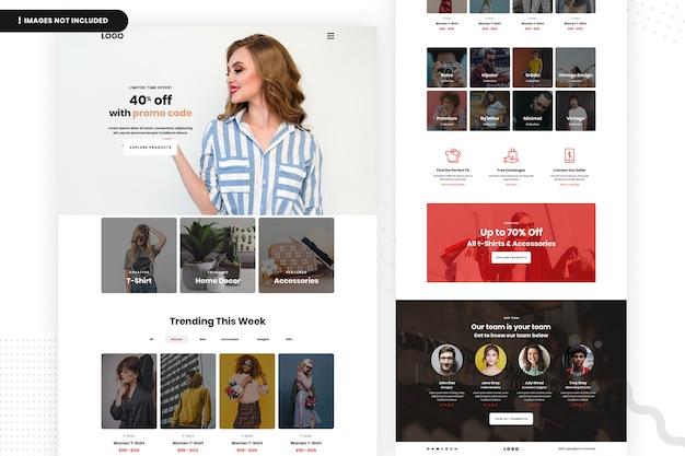 Modelo de site de venda de moda on-line