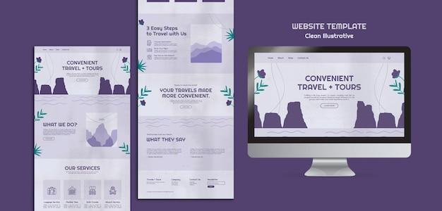 Modelo de site ilustrativo limpo Psd Premium