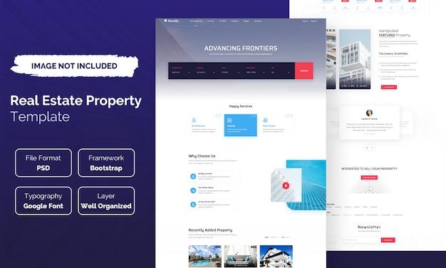Modelo de site imobiliário
