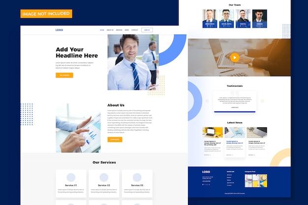 Modelo de site moderno de uma página para agência digital