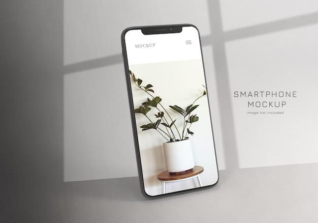 Modelo de smartphone minimalista limpo