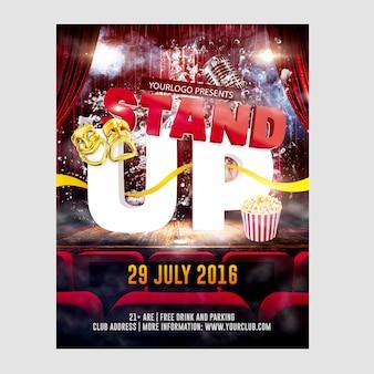 Modelo de stand up comedy flyer