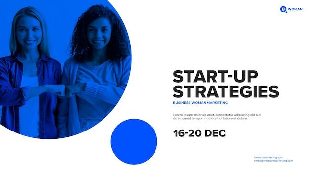 Modelo de start-up para cobertura com mulher de negócios